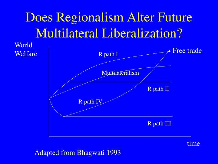 Does Regionalism Alter Future Multilateral Liberalization?
