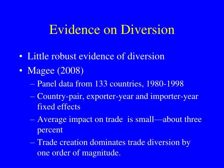 Evidence on Diversion