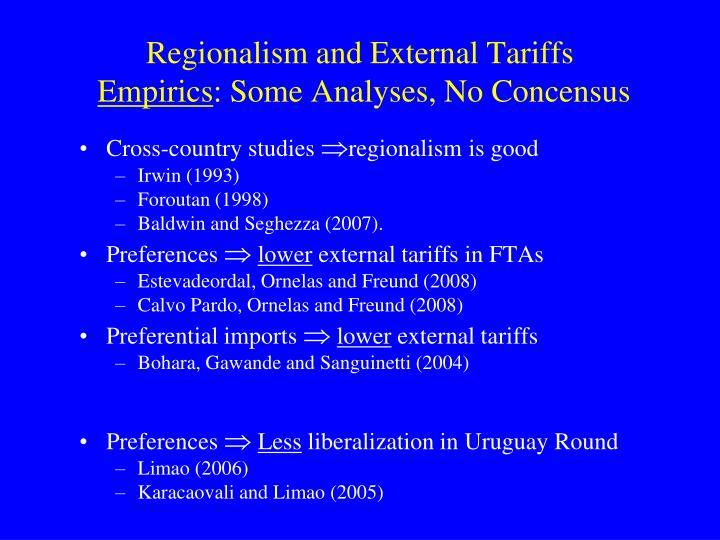 Regionalism and External Tariffs