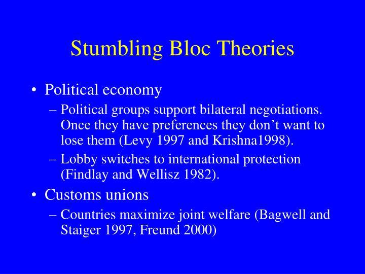 Stumbling Bloc Theories
