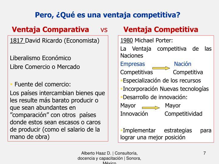 Pero, ¿Qué es una ventaja competitiva?