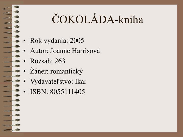 ČOKOLÁDA-kniha