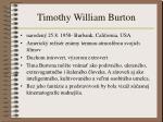 timothy william burton