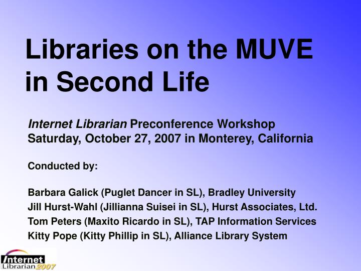 Libraries on the MUVE in Second Life