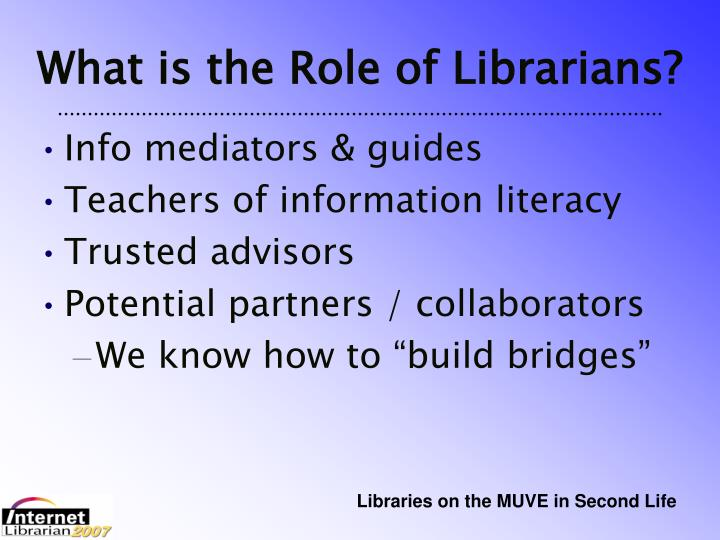 What is the Role of Librarians?