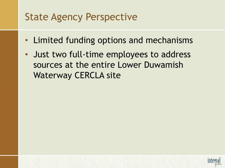 State Agency Perspective