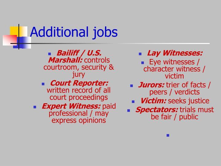 Bailiff / U.S. Marshall: