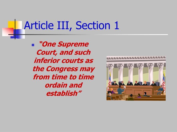 Article III, Section 1