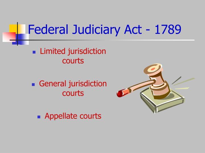 Federal Judiciary Act - 1789