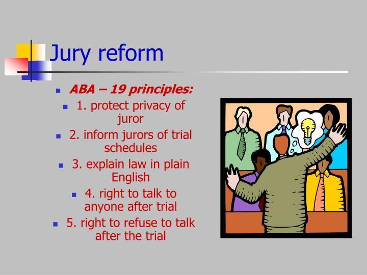 Jury reform