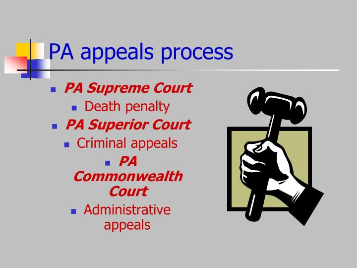 PA appeals process