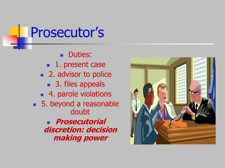 Prosecutor's