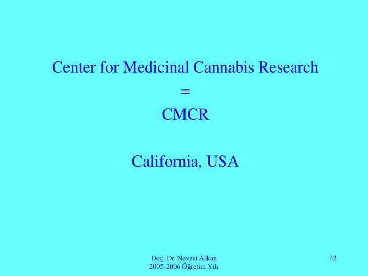 Center for Medicinal Cannabis Research