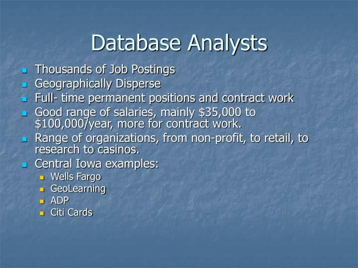 Database Analysts