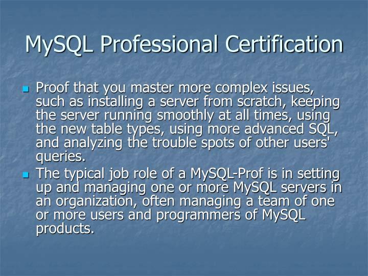 MySQL Professional Certification