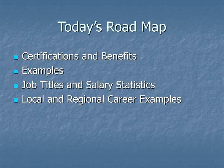 Today s road map