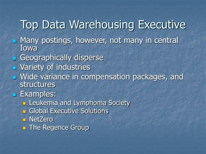 Top Data Warehousing Executive
