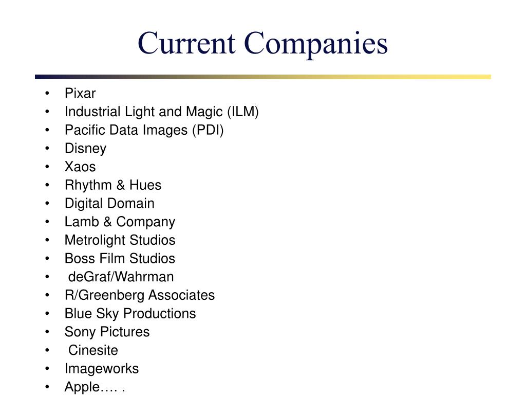 Current Companies
