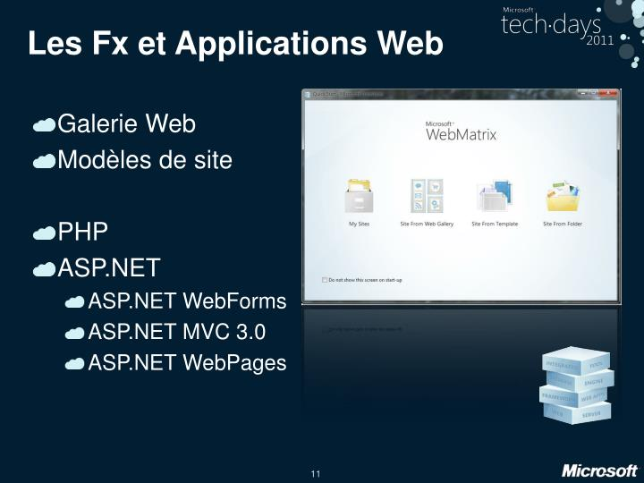 Les Fx et Applications Web