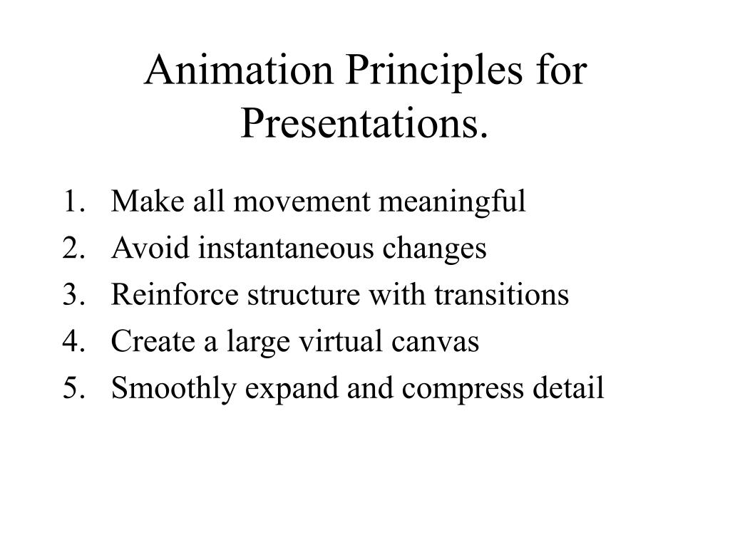 Animation Principles for Presentations.