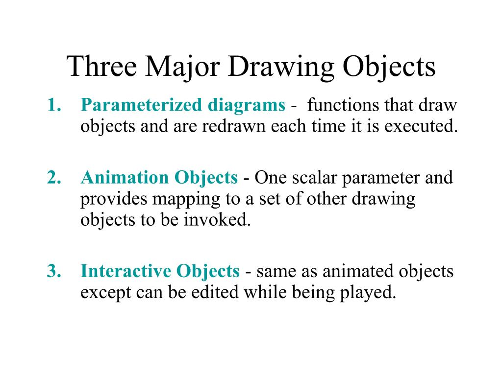Three Major Drawing Objects
