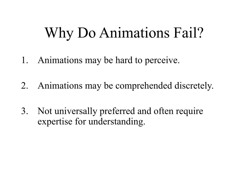 Why Do Animations Fail?