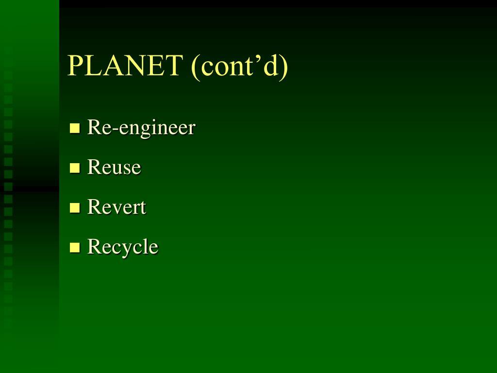 PLANET (cont'd)