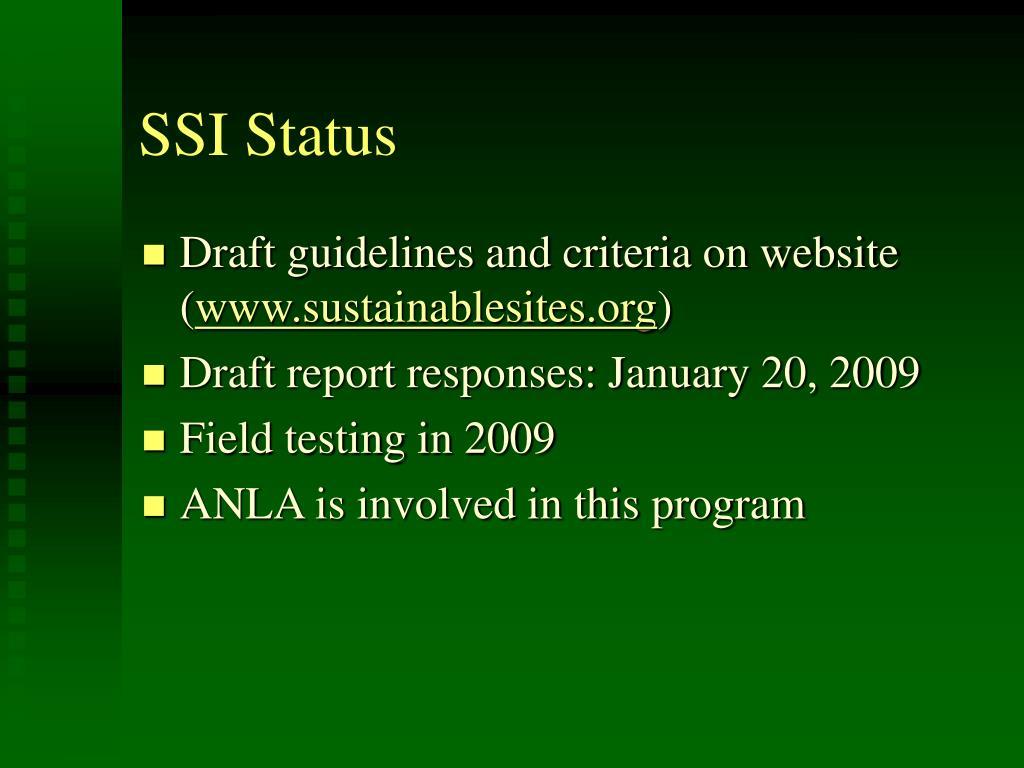 SSI Status