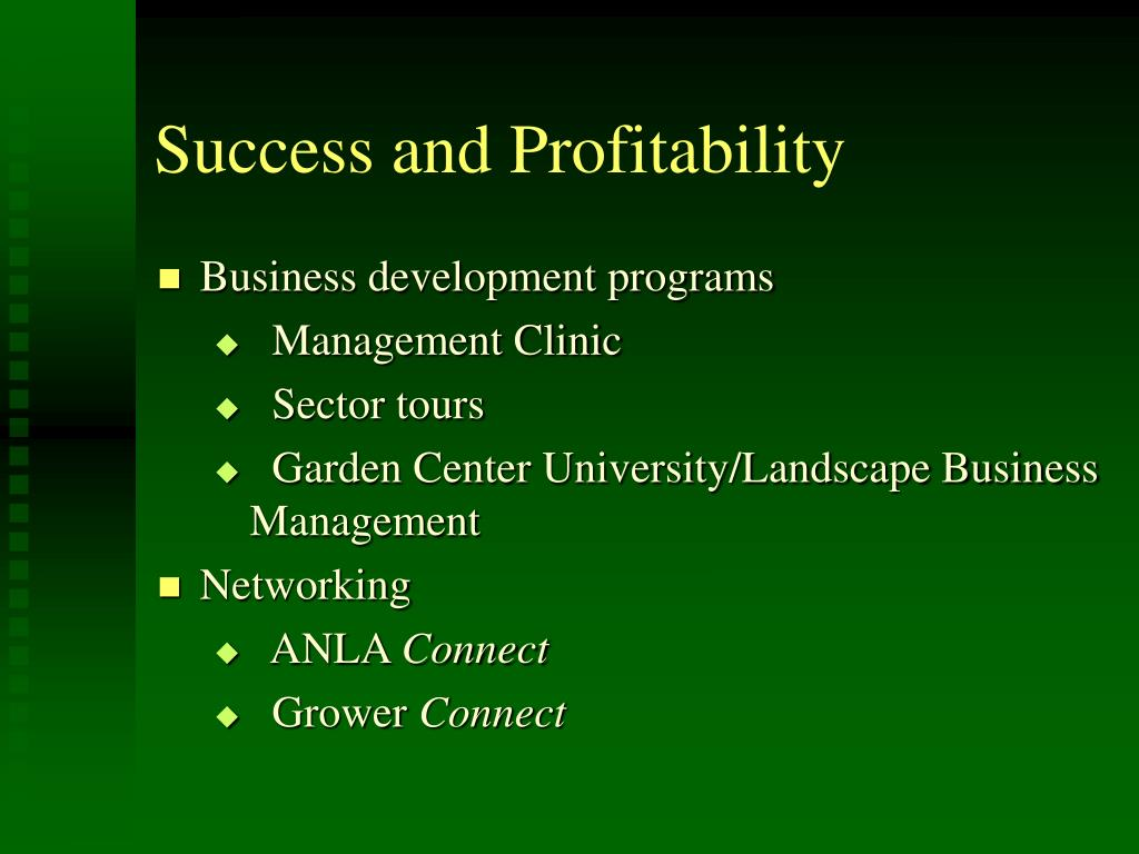 Success and Profitability
