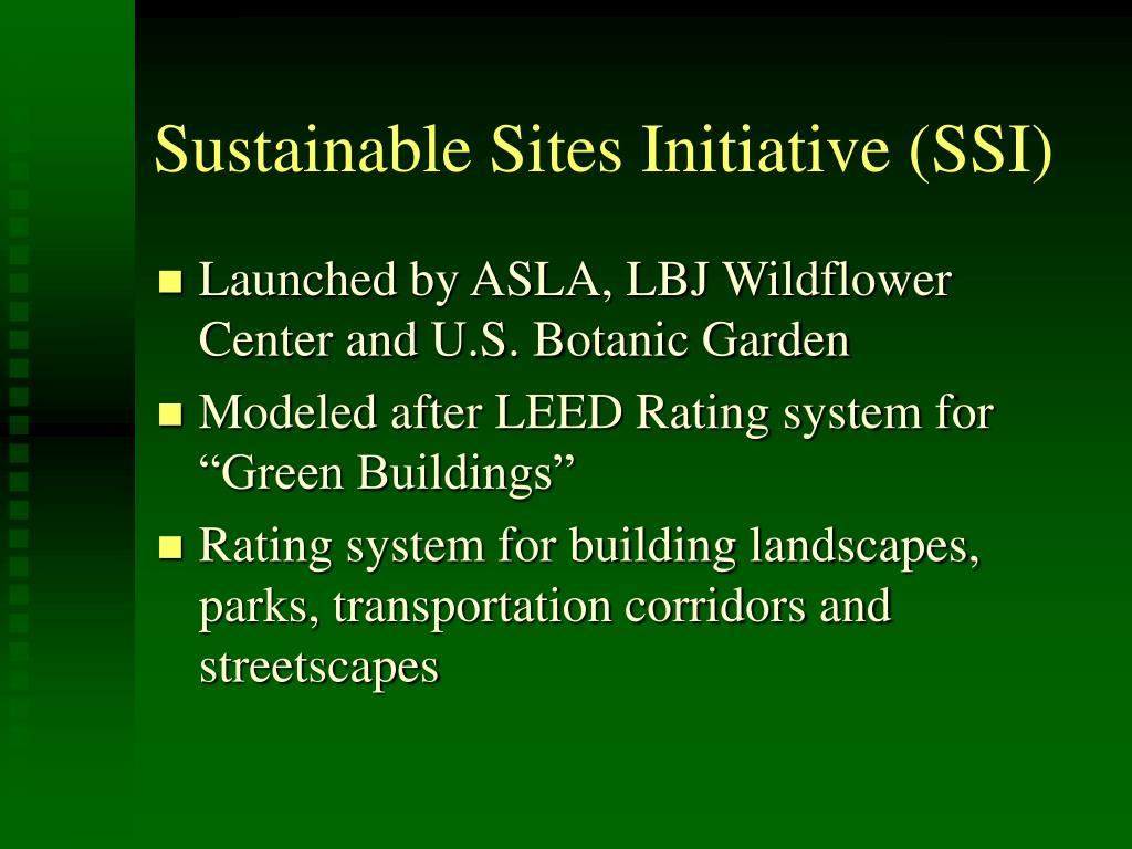 Sustainable Sites Initiative (SSI)