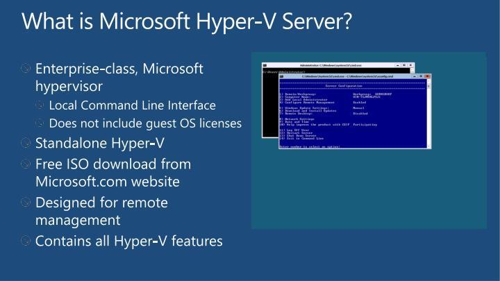 What is Microsoft Hyper-V Server?