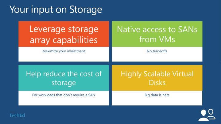 Your input on Storage