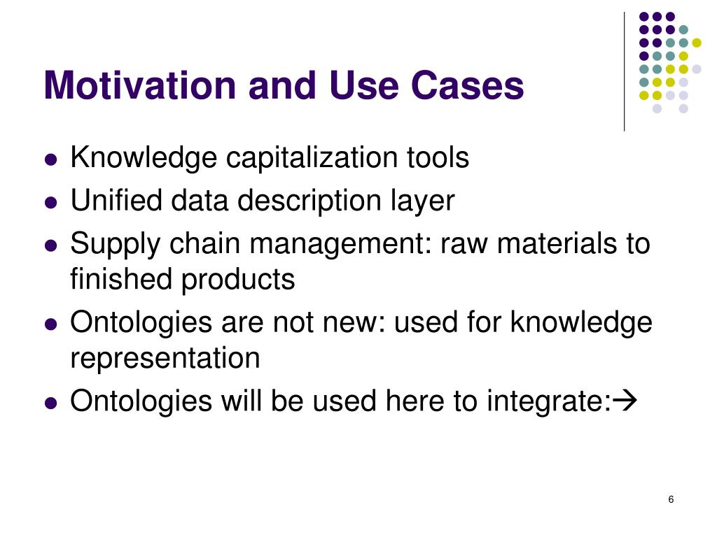 Motivation and Use Cases