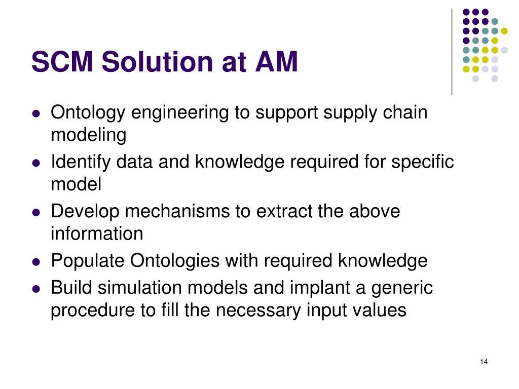 SCM Solution at AM