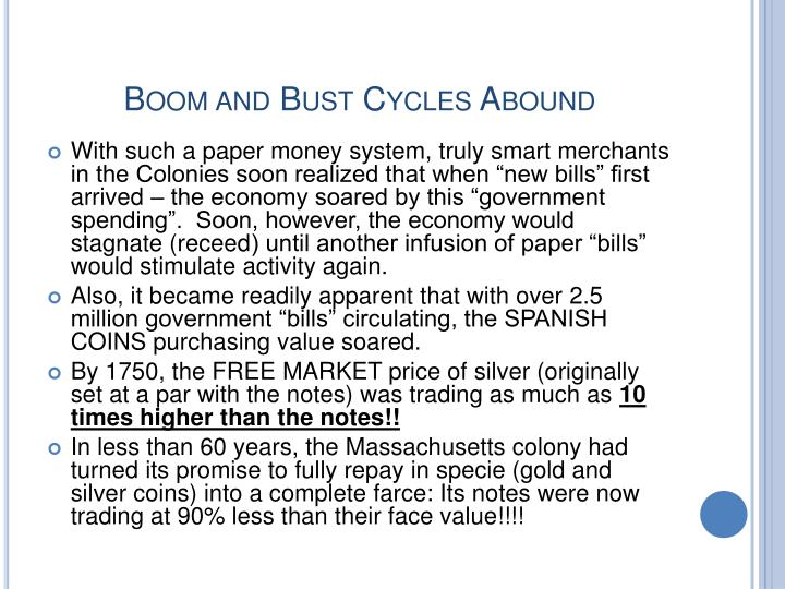 Boom and Bust Cycles Abound