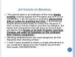 jefferson on banking