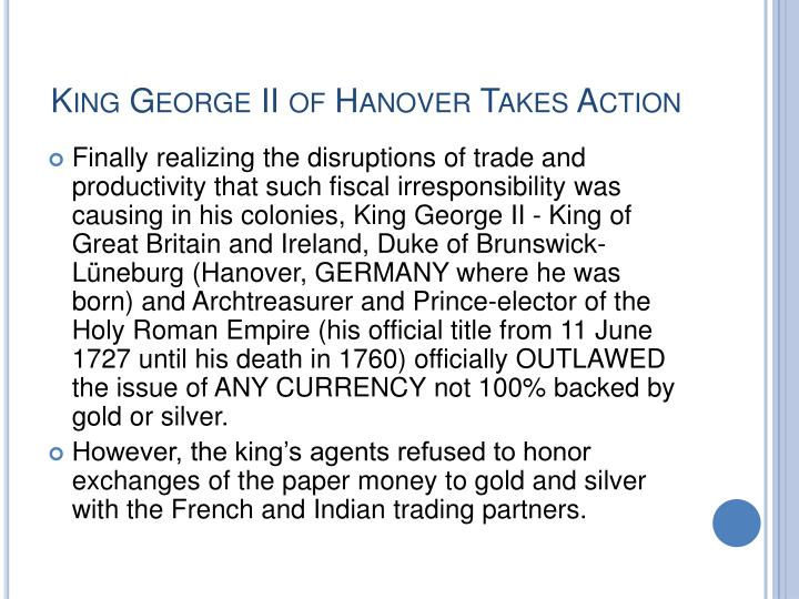 King George II of Hanover Takes Action