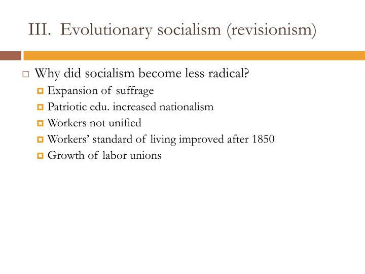 Evolutionary socialism (revisionism)