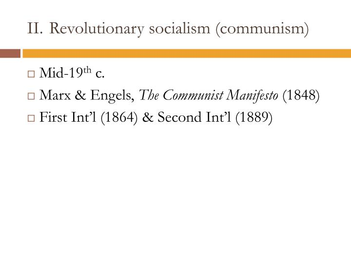 Revolutionary socialism (communism)