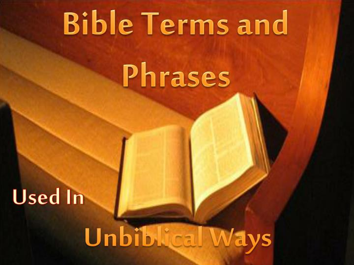 Bible Terms and