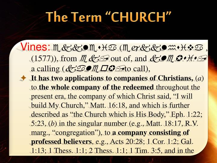 "The Term ""CHURCH"""