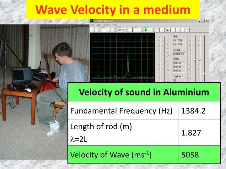 Wave Velocity in a medium