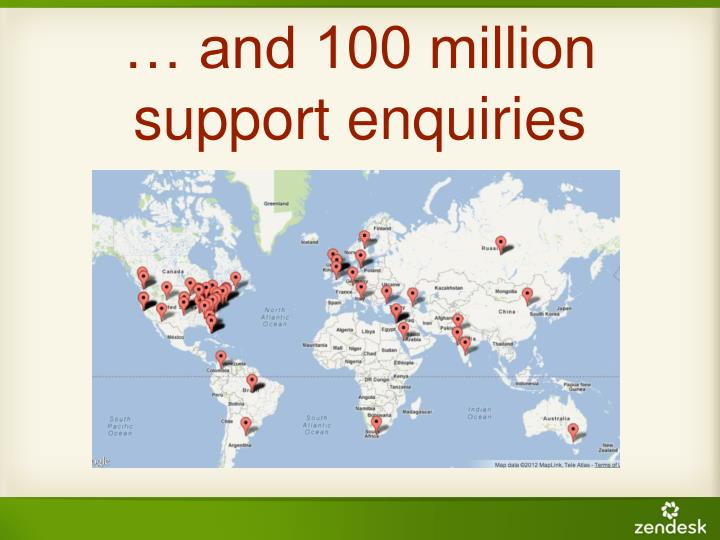 … and 100 million support enquiries