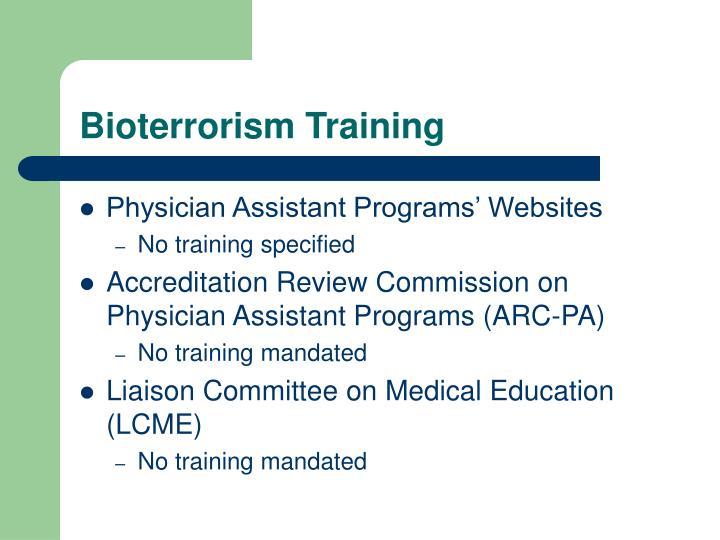 Bioterrorism Training