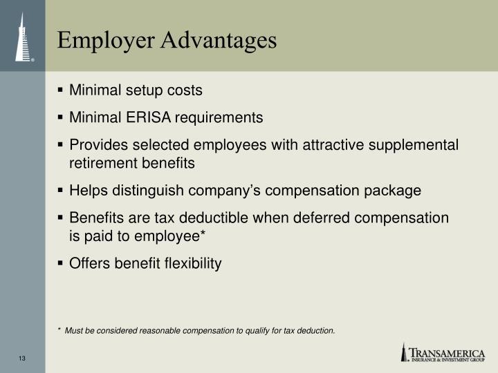 Employer Advantages