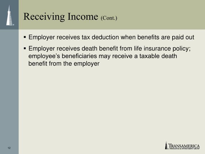 Receiving Income