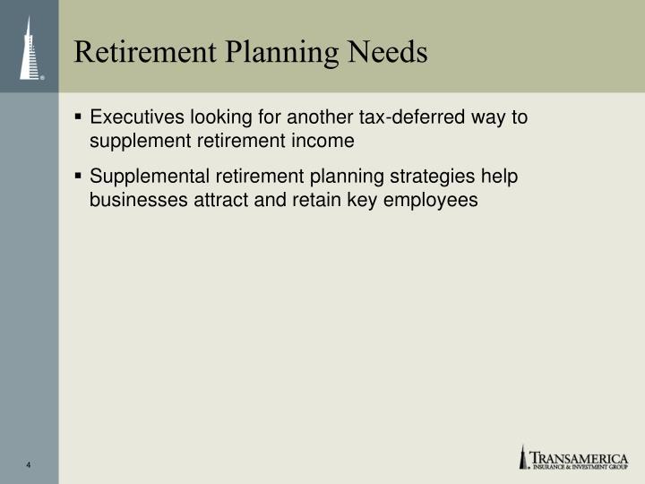 Retirement Planning Needs
