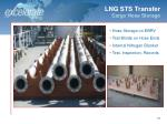 lng sts transfer cargo hose storage