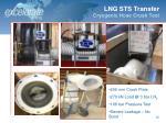 lng sts transfer cryogenic hose crush test