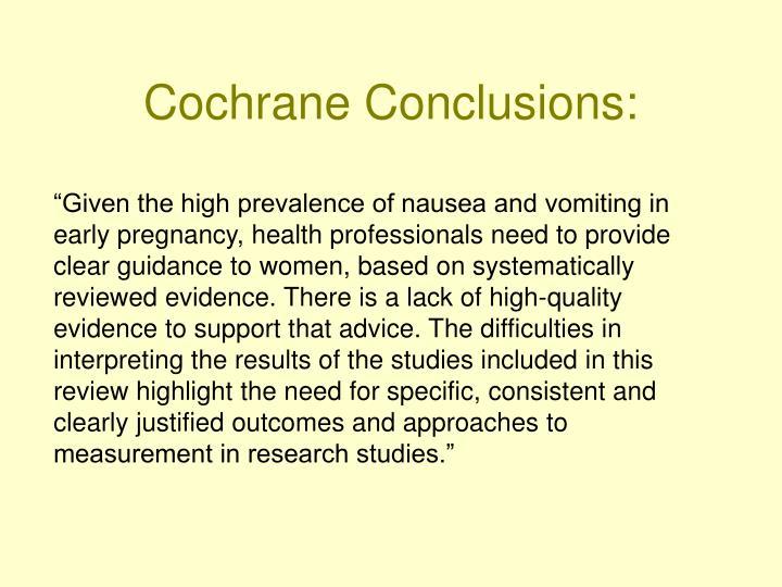 Cochrane Conclusions: